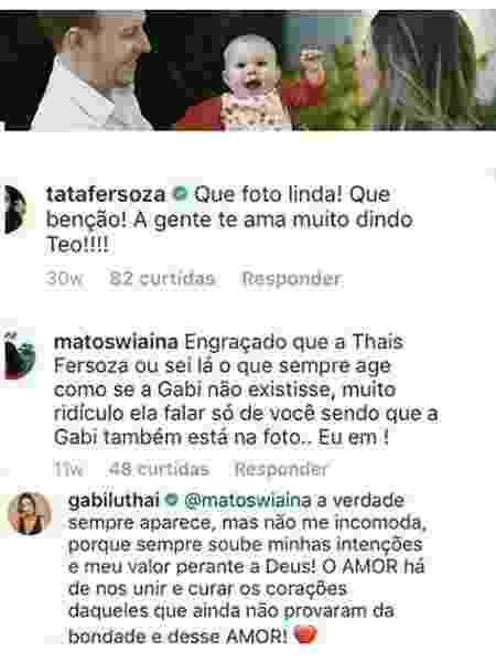 Thais Fersoza  comenta foto de Teo Teló e Gabi Luthai a detona - Reprodução/Instagram - Reprodução/Instagram