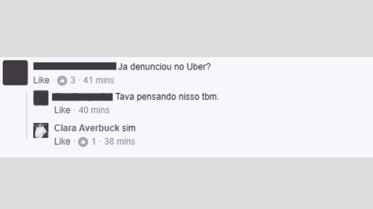 Clara Averbuck relata denúncia de estupro por parte de motorista da Uber - Reprodução/Facebook - Reprodução/Facebook