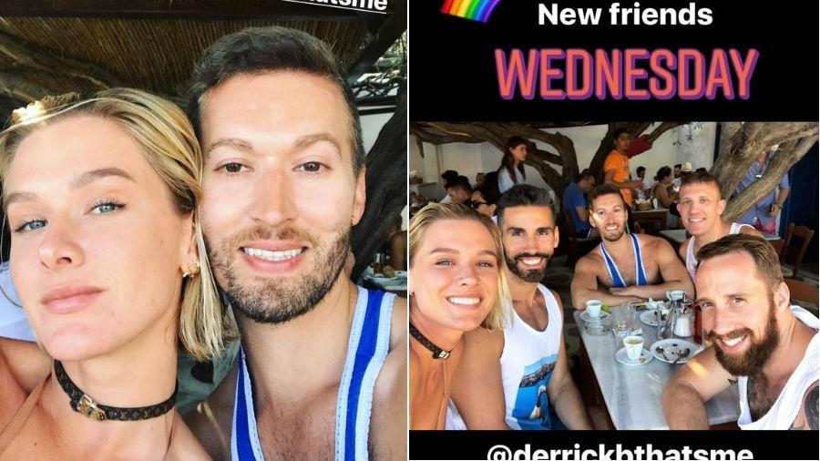 Fiorella Mattheis posa com novos amigos na Grécia - Reprodução/Instagram