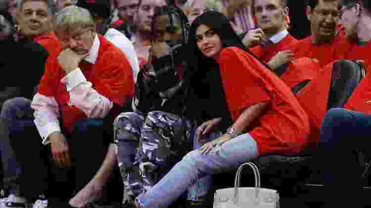 Kylie Jenner e Travis Scott em jogo da NBA - Getty Images - Getty Images