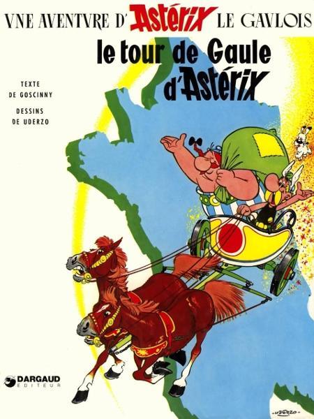"""Capa do quadrinho """"Le Tour de Gaule"""", de Asterix - Reprodução"""