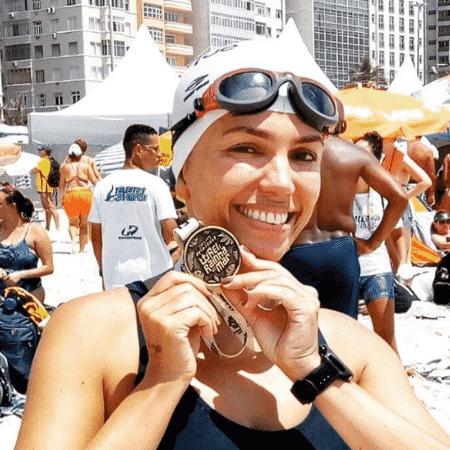 Ana Paula Araujo disputa competição em Copacabana - Reprodução/Instagram/apparaujo