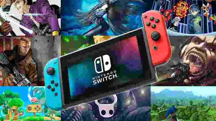 Videogame Nintendo Switch - Arte/UOL Jogos - Arte/UOL Jogos