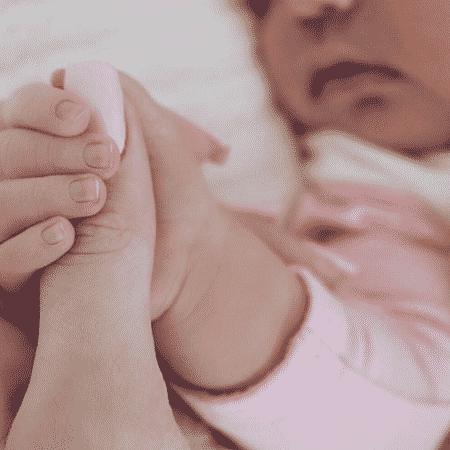 Primeira foto de Stormi, filha de Kylie Jenner - Reprodução/Instagram/kyliejenner
