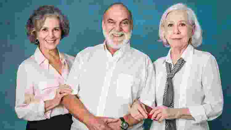 Lima Duarte, Fernanda Montenegro, Irene Ravache - Paulo Belote/Globo - Paulo Belote/Globo