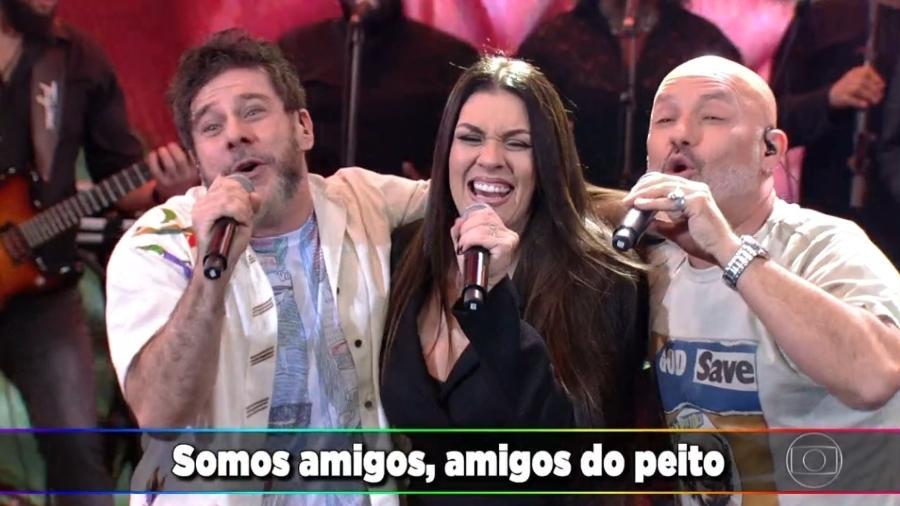 """Balão Mágico volta à TV no """"Ding Dong"""", quadro do """"Domingão do Faustão"""" - Reprodução/TV Globo"""