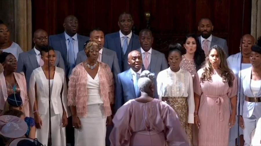 """Coral gospel Kingdom Choir, que cantou """"Stand By Me"""" no casamento real - Reprodução"""