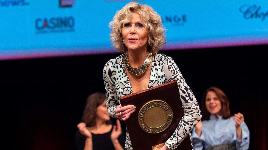 Jane Fonda recebe prêmio Lumière na França - Romain Lafabregue/AFP