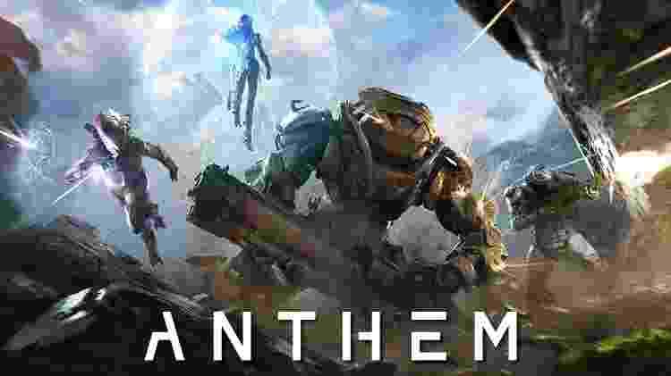 Anthem dá as caras em Fevereiro. O jogo é desenvolvido pela Bioware e produzido pela Electronic Arts. - Reprodução