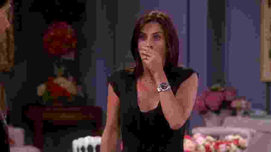 """Courteney Cox como Monica em """"Friends"""" - Reprodução"""