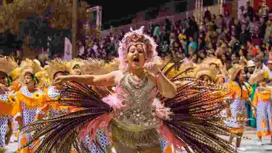 Bambas da Alegria desfila no Carnaval de Uruguaiana  - Reprodução/Facebook/carnavaluruguaiana2019