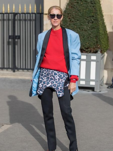 579c62957 Celine Dion surpreende ao usar roupa de mergulho em look de R$ 21 mil