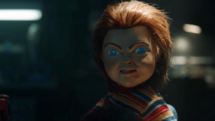 """O boneco Chucky nas filmagens de """"Brinquedo Assassino"""" - Reprodução/YouTube"""