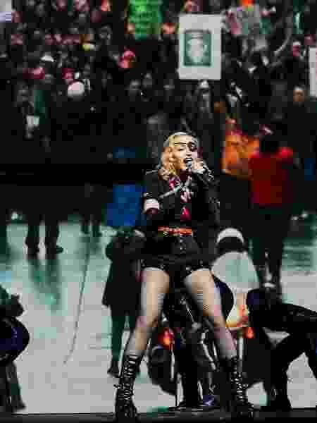 Madonna faz show em Nova York em Pride Island - Jeenah Moon/Reuters