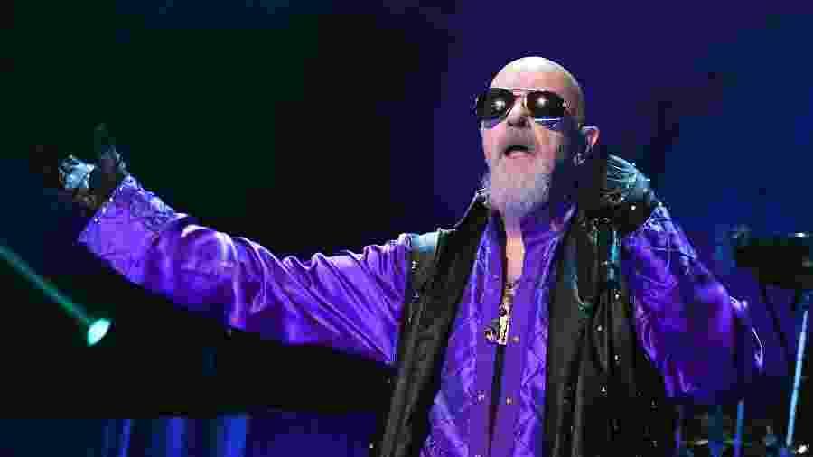 Rob Halford, vocalista do Judas Priest, em apresentação em Las Vegas, nos Estados Unidos - Ethan Miller/Getty Images