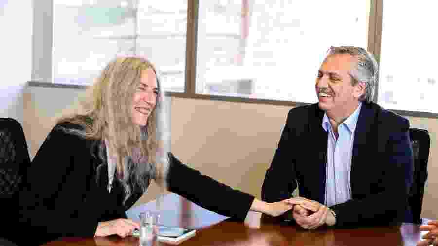 Patti Smith com o presidente eleito da Argentina, Alberto Fernández - Reuters