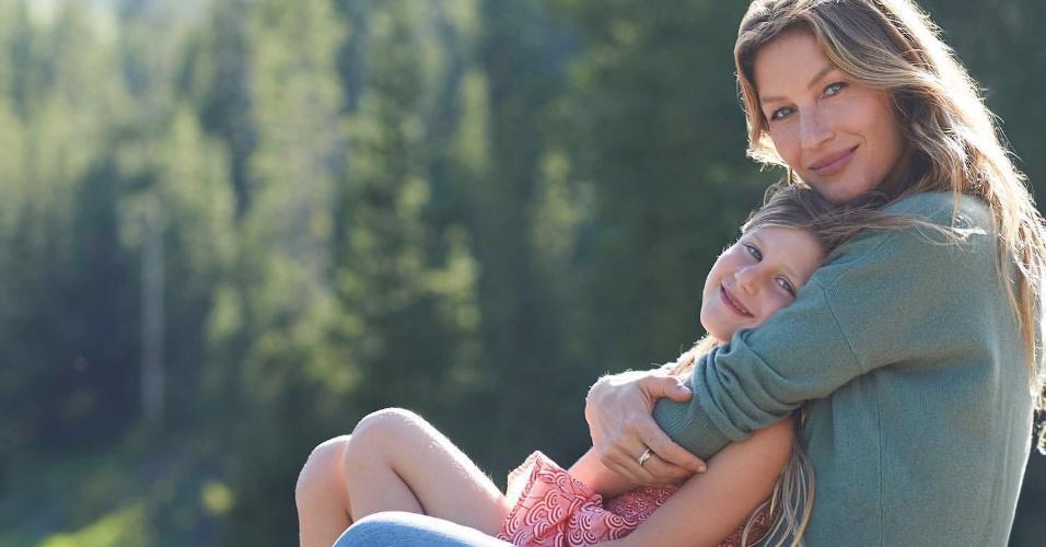 Gisele Bündchen e Vivian Lake, sua filha com Tom Brady
