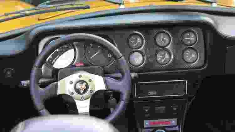 Puma GTS 1978 histórico Francisco Alexandre painel - Arquivo pessoal - Arquivo pessoal