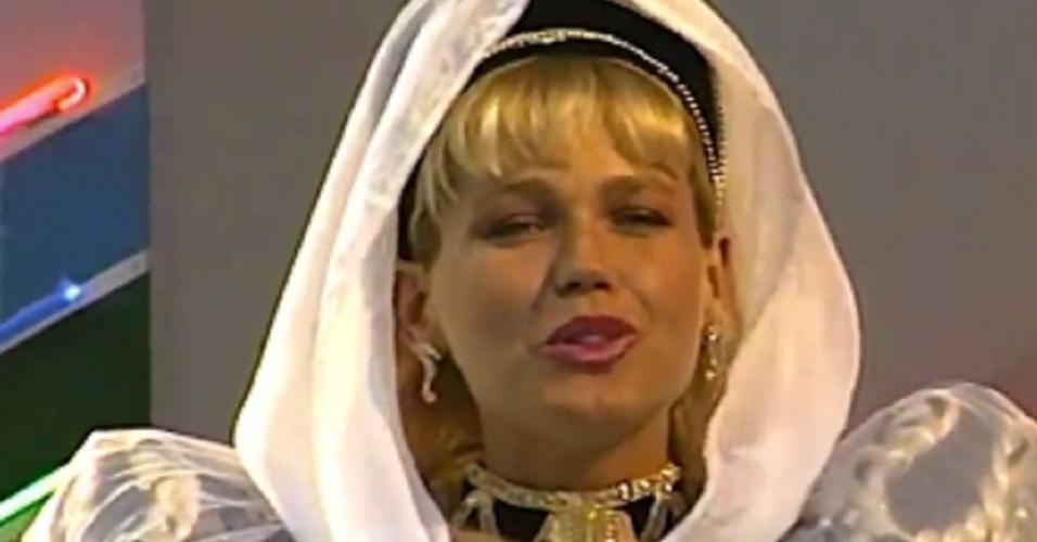 Xuxa Meneghel em turnê pelo Chile em 1990