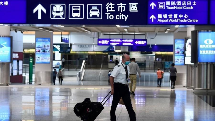 Aeroporto de Hong Kong, na China - Li Zhihua/China News Service via Getty Images