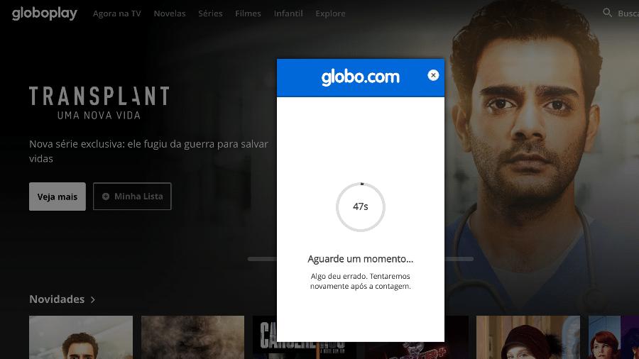 BBB 21: Globoplay sai do ar em dia de estreia - Reprodução/Globoplay