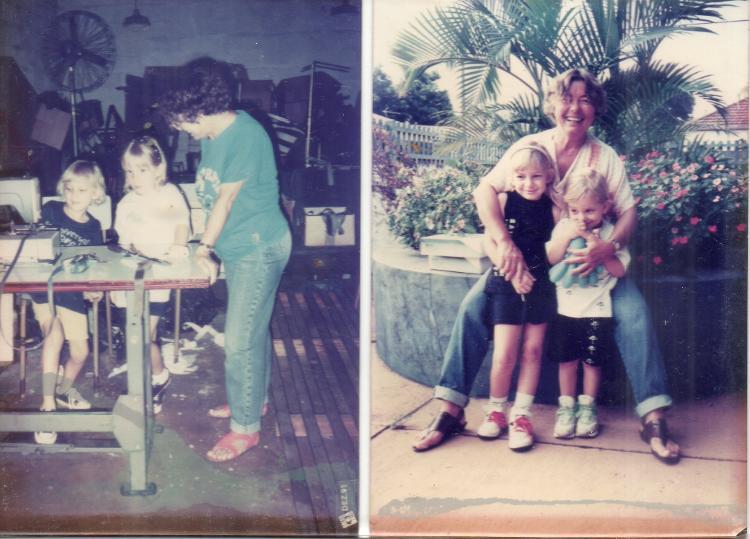 Fotos antigas registram momentos entre Dolores e suas netas - Arquivo pessoal - Arquivo pessoal