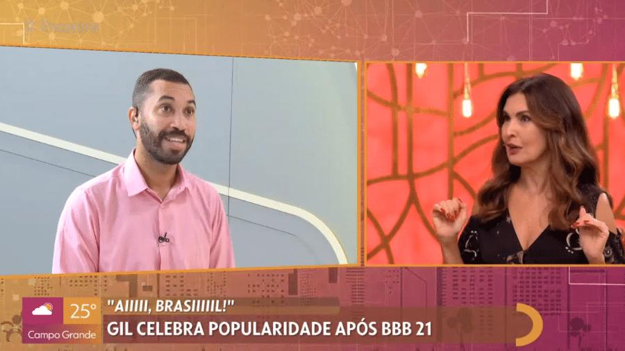 """Gil do Vigor, do """"BBB 21"""", participou do """"Encontro com Fátima Bernardes"""" - Reprodução / TV Globo"""