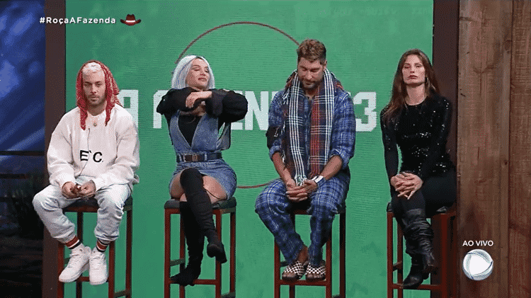 A Fazenda 2021: Gui Araujo, Aline Mineiro, Victor Pecoraro e Dayane Mello estão na quarta roça - Reprodução/PlayPlus - Reprodução/PlayPlus
