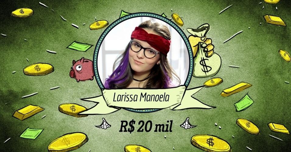 """LARISSA MANOELA: A Larissinha de """"Cúmplices de um Resgate"""", do SBT, ainda é uma menina, mas seu salário já é de gente grande - embora nada portentoso se comparado com os adultos: cerca de R$ 20 mil mensais"""
