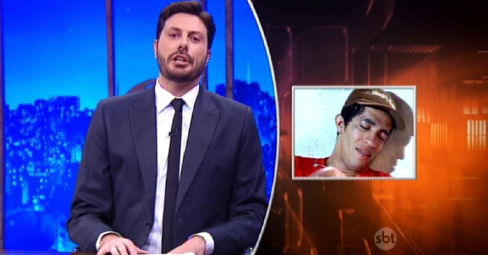 18.abr.2016 - Danilo Gentili faz piada com o cuspe de Jean em Bolsonaro.