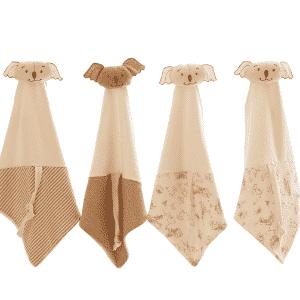 Paninhos de boca com tiras, da Cotton Cloud. As peças são confeccionadas com algodão orgânico e custam R$ 54. Os produtos podem ser encontrados na feira Baby Bum (www.babybum.com.br), que acontece de 11 a 14 de maio de 2016, em São Paulo - Divulgação
