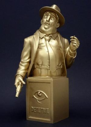 Troféu HQMIX da 27ª edição retrata o detetive Diomedes, de Lourenço Mutarelli - Divulgação