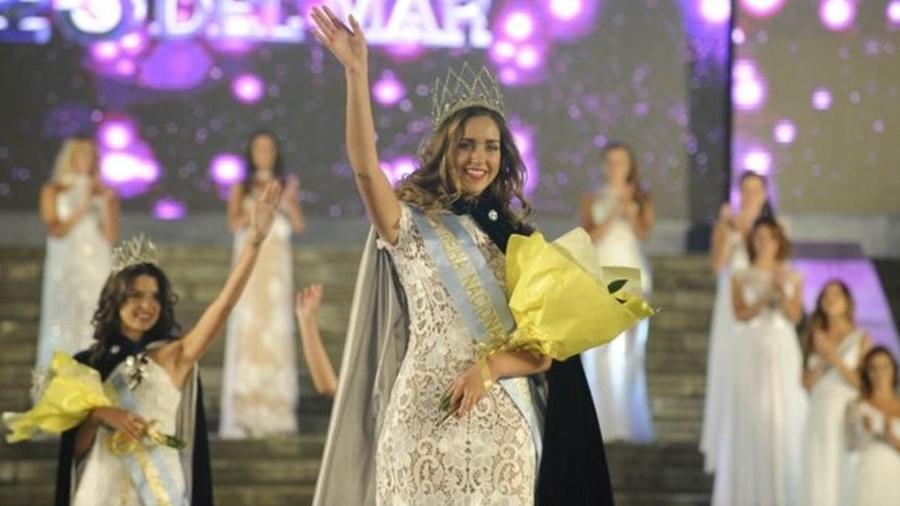 Para a jovem miss Giuliana Chiappa, concursos não estimulam violência - Maxi Failla/Clarín