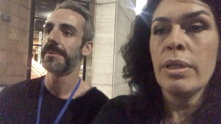Paula Lavigne e um amigo, em Montevidéu, no Uruguai, onde o consumo de maconha é legalizado - Reprodução/Instagram