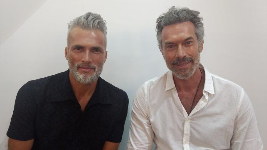 Os modelos Marcos Luko e Paulo Carotini  - Andressa Zanandrea/UOL