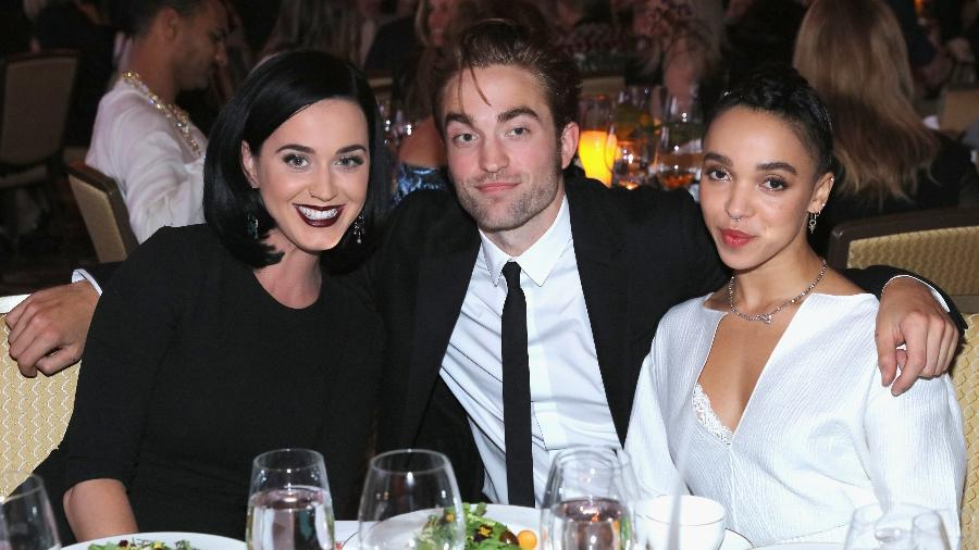Katy Perry, Robert Pattinson e FKA Twigs em 2015 - Getty Images