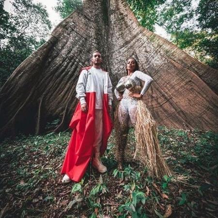Anitta e Alesso gravam clipe na Amazônia - Reprodução/Instagram/Anitta