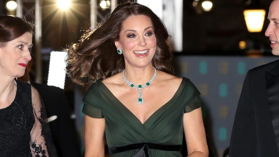 Kate Middleton durante sua presença no Bafta 2018 - Getty Images