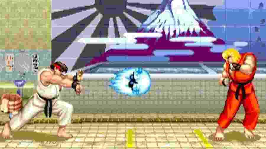 """Ryu e Ken em """"Street Fighter 2"""" - Reprodução"""