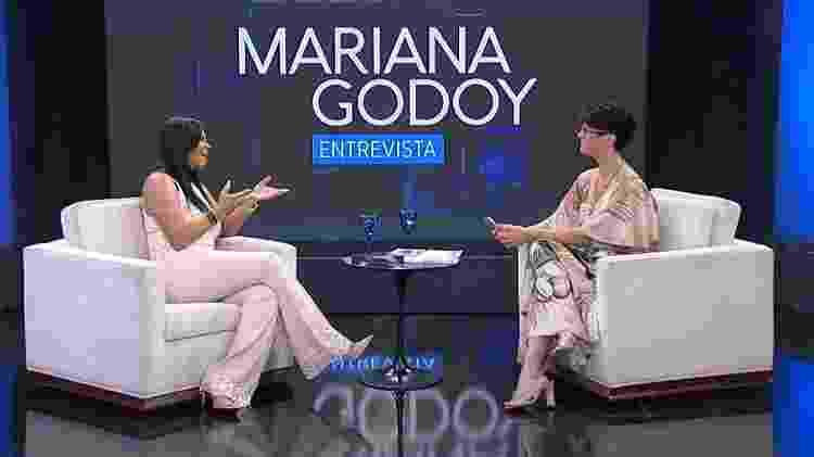 Gretchen e Mariana Godoy durante entrevista - Divulgação - Divulgação