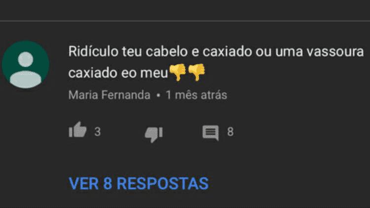 Ana Clara Barbosa sofreu ataques racistas em seu canal no Youtube - Reprodução - Reprodução