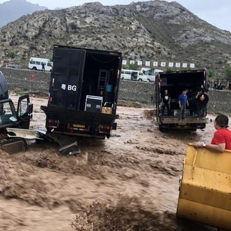 Set de filme de Jackie Chan é atingido por desastre natural na China - Divulgação