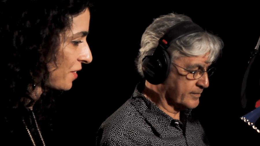Marisa Monte e Caetano Veloso em clipe - Reprodução