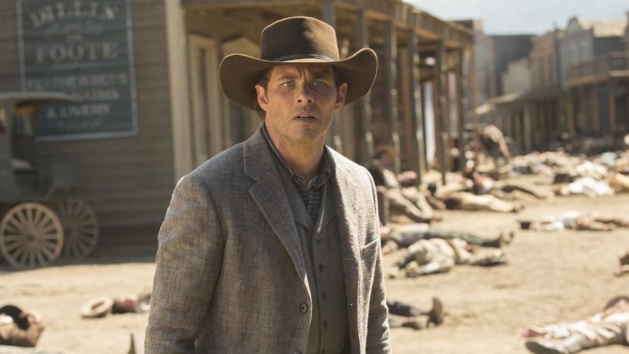 James Marsden em cena de Westworld - Reprodução