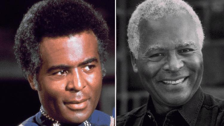 """Antes e depois de Terry Carter, o Coronel Tigh de """"Battlestar Galactica"""" - Reprodução/Montagem"""