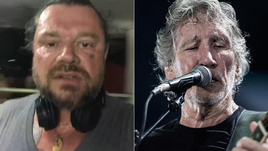 """Richard Rasmussen (à esquerda) ficou """"pistola"""" com o protesto de Roger Waters contra Jair Bolsonaro - Montagem/Reprodução/Instagram/richardselvagem/Reinaldo Canato/UOL"""