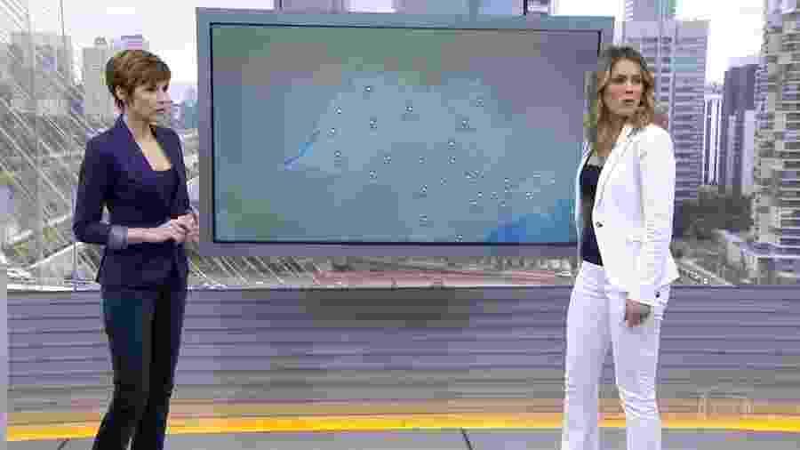 """Gloria Vanique e Jacque Brazil no """"Bom Dia Brasil"""" - Reprodução/Globo"""