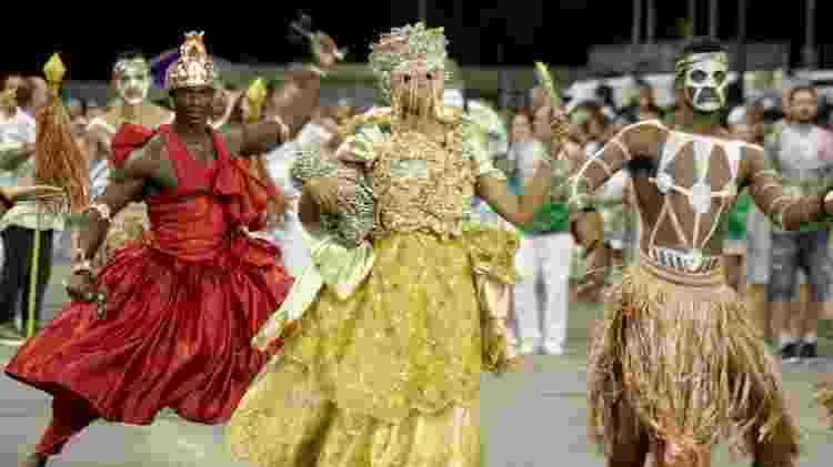Ensaio técnico da Mancha Verde no Anhembi para o Carnaval de 2019 - Luiz Claudio Barbosa/Código19/Folhapres