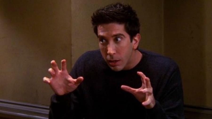 """Ross em cena de """"Friends"""" - Reprodução"""