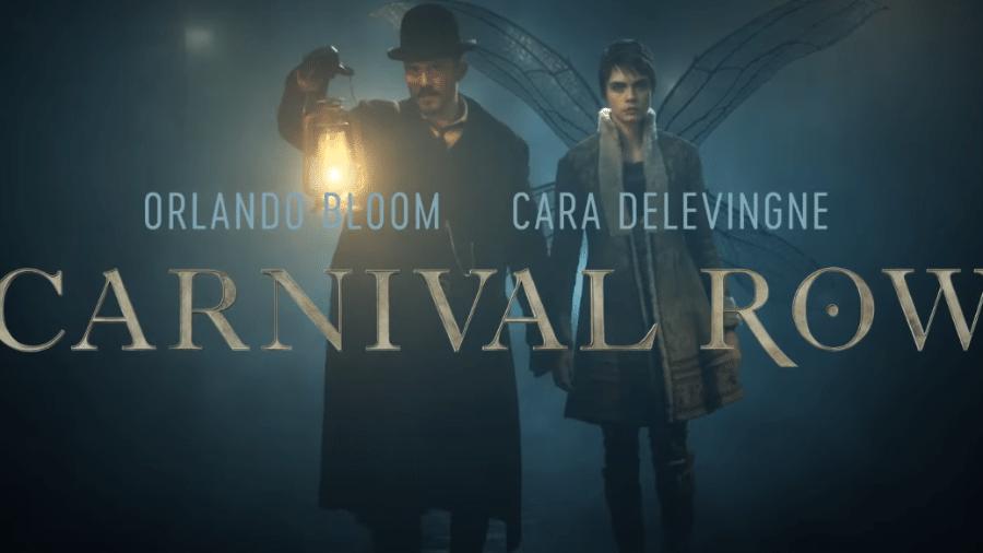 Orlando Bloom e Cara Delevingne em Carnival Row, da Amazon - Reprodução/YouTube